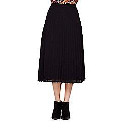 Yumi - black Midi Pleat Skirt