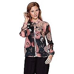 Yumi - multicoloured  Flower Print Shirt