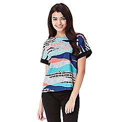 Yumi - multicoloured  Shell Top With Graphic Print