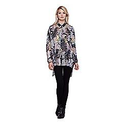 Yumi - multicoloured  Oversized Shirt With Tree Print