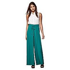Yumi - Green palazzo trousers