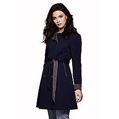 Yumi - Blue swing hem trench coat