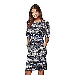 Yumi - Blue graphic midi dress