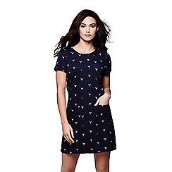 Yumi - Blue nautical lobster pocket dress