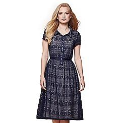 Yumi - Blue lace shirt dress