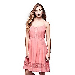 Yumi - Pink strappy cotton dress