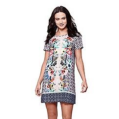 Yumi - Multicoloured floral shift dress
