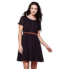 Yumi - Black broderie anglaise day dress