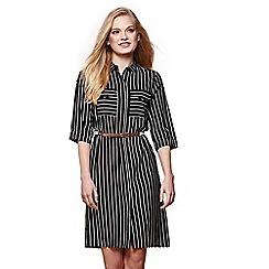Yumi - Black stripe shirt dress