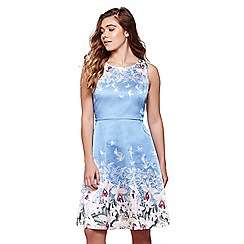 Yumi - Blue floral shift dress