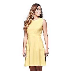 Yumi - Yellow stretch a-line dress
