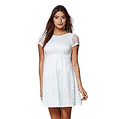 Yumi - Ivory lace tile skater dress
