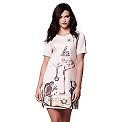 Yumi - Pink flamingo tunic dress