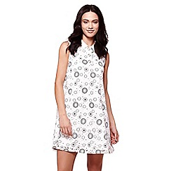Yumi - Ivory paper lace swing dress