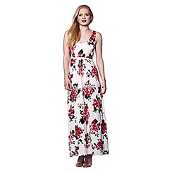 Yumi - Ivory blossom print maxi dress