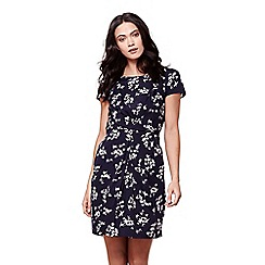 Yumi - Floral ruched short sleeve dress