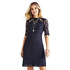 Yumi - Blue lace 'Elissa' bodycon dress