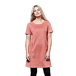 Yumi - Orange textured ponte tunic dress