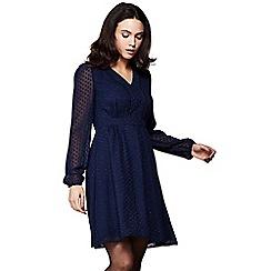 Yumi - Blue spotted chiffon 'Holy' dress