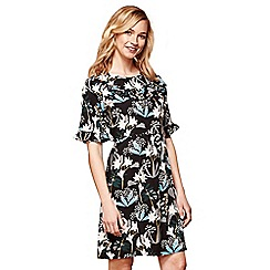 Yumi - Black floral 'Isabella' shift dress