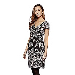 Yumi - Black floral 'Sophia' wrap dress