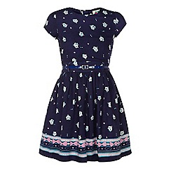 Yumi Girl - Cat and bow print dress