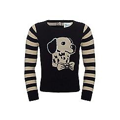 Yumi Girl - Dog print jumper