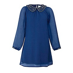Yumi Girl - Embellished collar party dress
