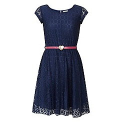 Yumi Girl - Lace heart belt dress