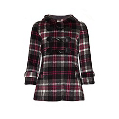 Yumi Girl - Checked duffle coat