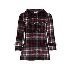 Yumi Girl - Checked duffle coat