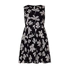Yumi Girl - Flower check dress