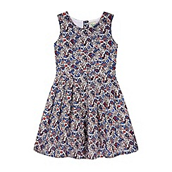 Yumi Girl - White Prairie Floral Print Day Dress