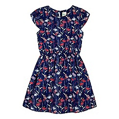 Yumi Girl - Blue Daisy Print Skater Dress
