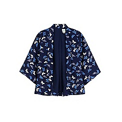Yumi Girl - Blue butterfly print jacket