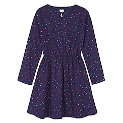 Yumi Girl - Blue floral heart print tunic dress