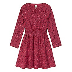 Yumi Girl - Red floral heart print tunic dress