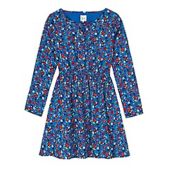 Yumi Girl - Green floral and beetle print dress