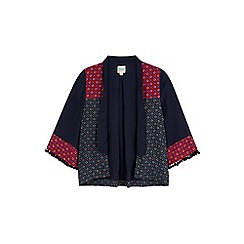 Yumi Girl - Blue mix and match tile print kimono