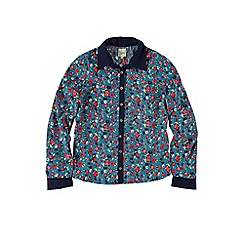 Yumi Girl - Green floral and beetle print shirt