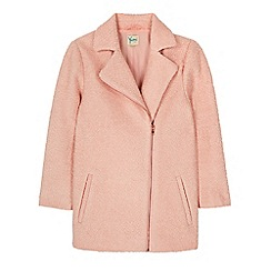 Yumi Girl - Pink oversized biker coat