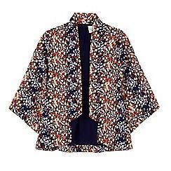 Yumi Girl - Blue ditsy floral print kimono