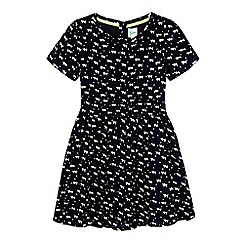Yumi Girl - Blue cat print dress