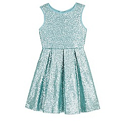 Yumi Girl - Green sequin skater dress