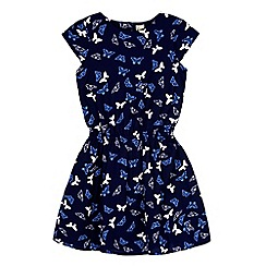 Yumi Girl - Blue butterfly print dress