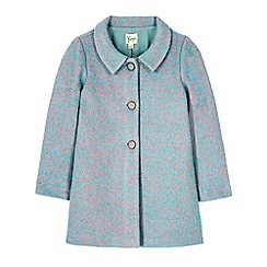 Yumi Girl - Blue vintage fleck swing coat