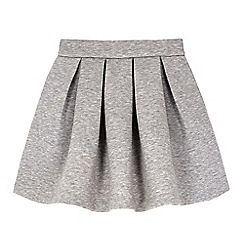 Yumi Girl - Grey neoprene box pleat skater skirt