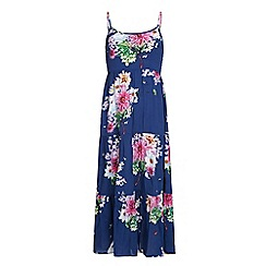 Yumi Girl - Blue Floral Print Maxi Dress