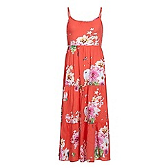 Yumi Girl - Pink Floral Print Maxi Dress