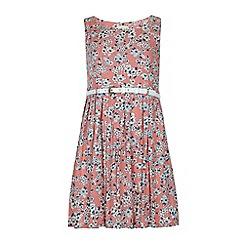 Yumi Girl - Pink Floral Print Day Dress